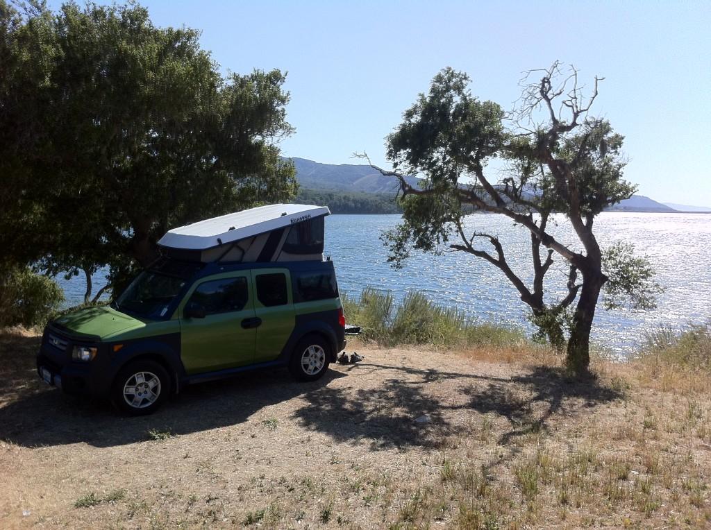 Our Honda Element eCamper at the Lake.