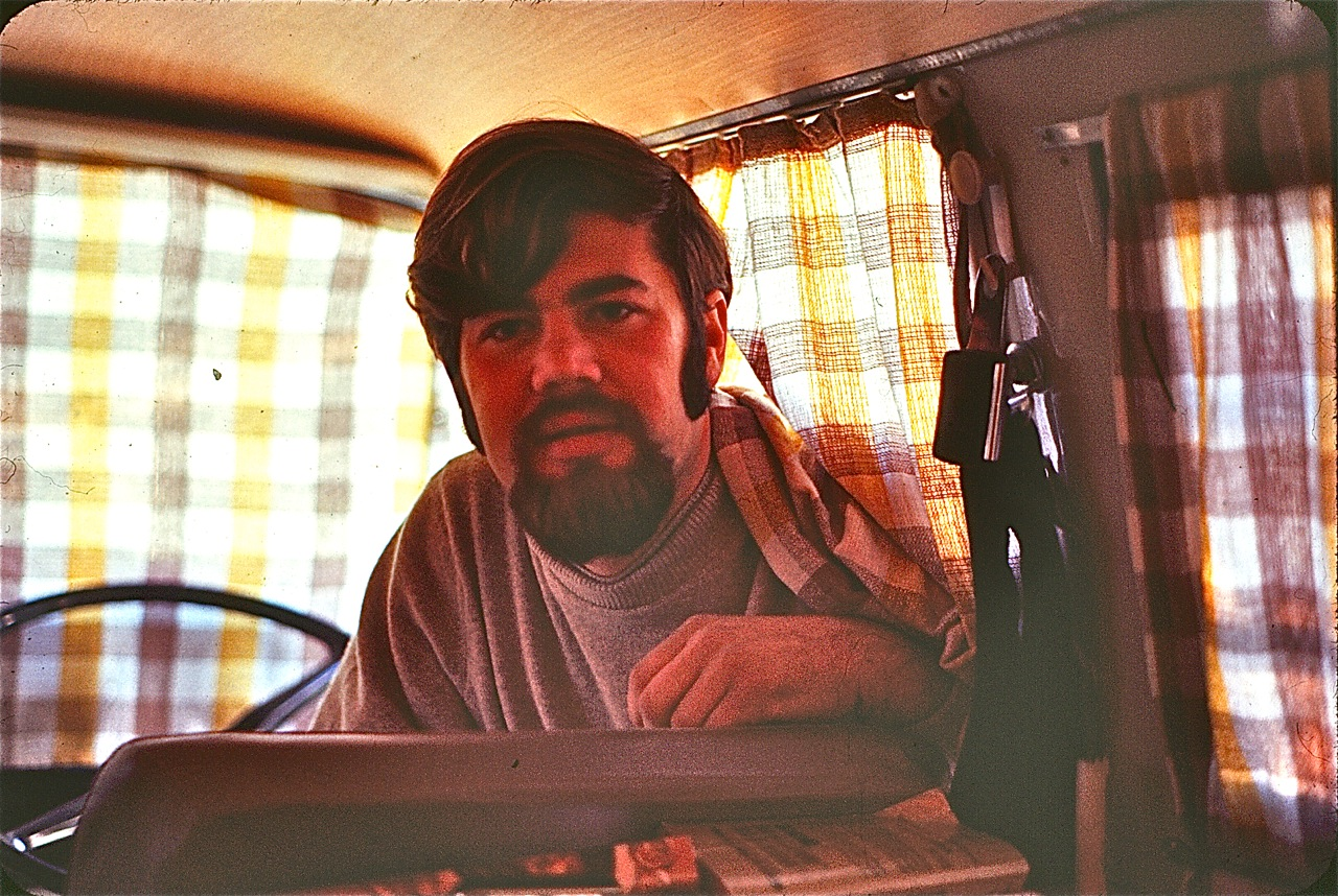 My Dad in Morocco in 1969, he looks like he just walked off the set of Mad Men. Very bold choice on the sideburns. =)