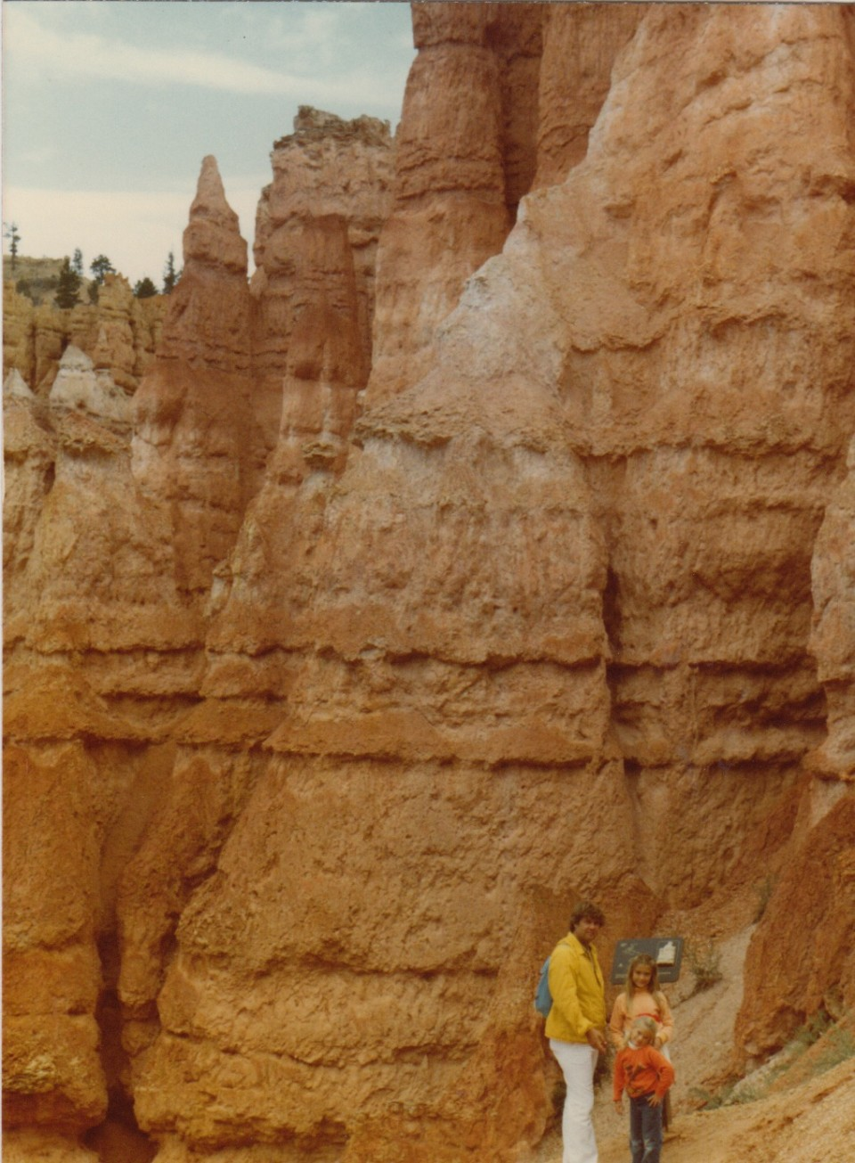 The thing I love the most about this picture is my Dad's white pants, in red rock Utah! Oh, the crazy 70s.....