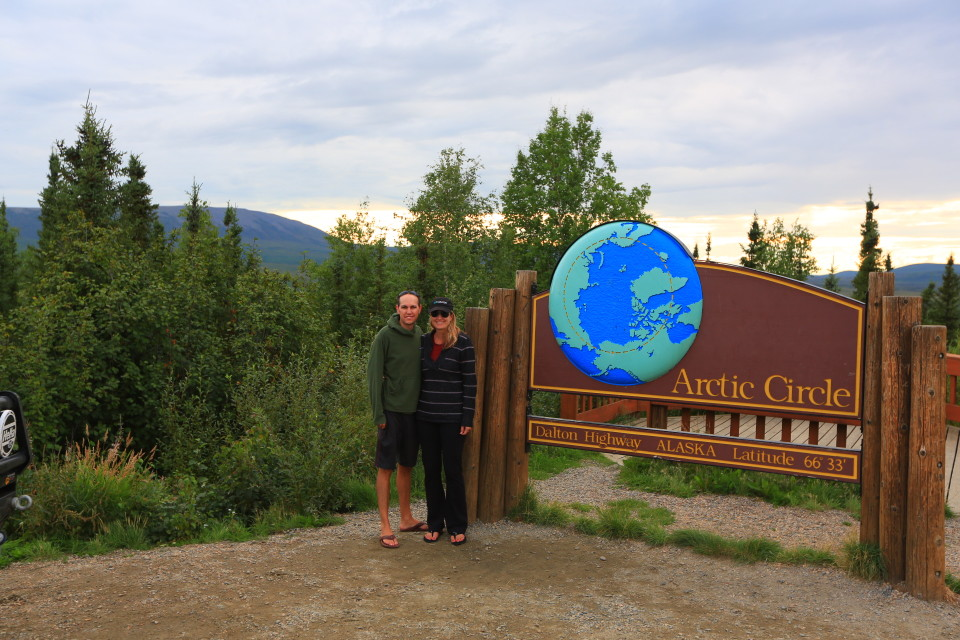 There were a couple of Japanese tourists at the Arctic Circle that took this picture of us -- no joke.