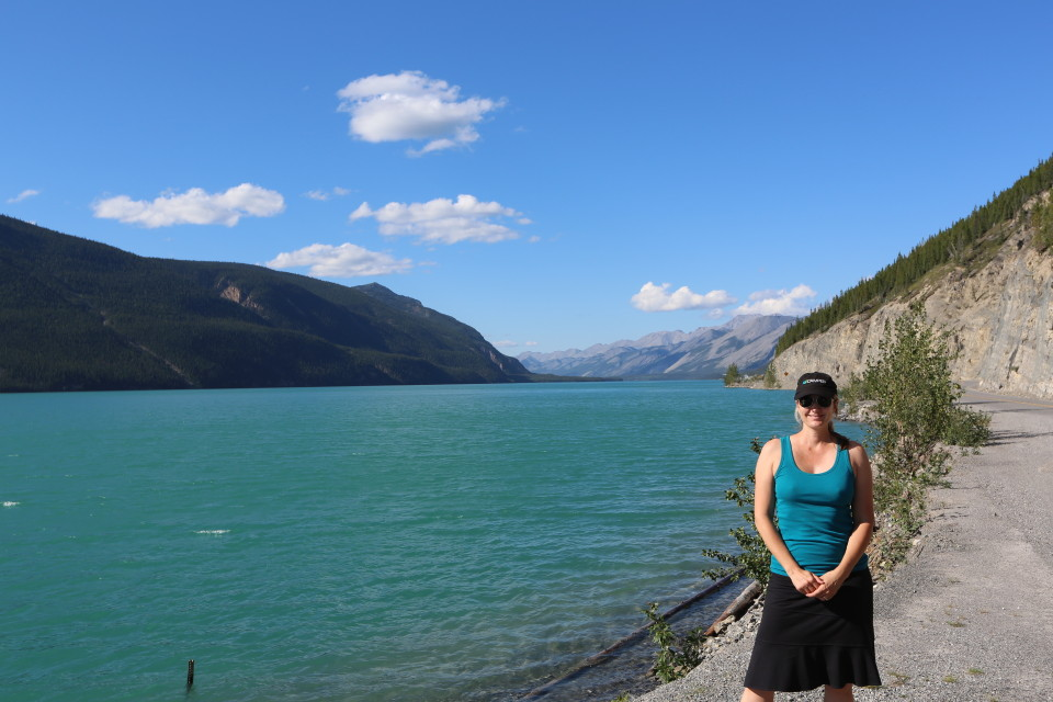 Muncho Lake- had great campgrounds along front of lake, but we needed the hot sprins of Liard.