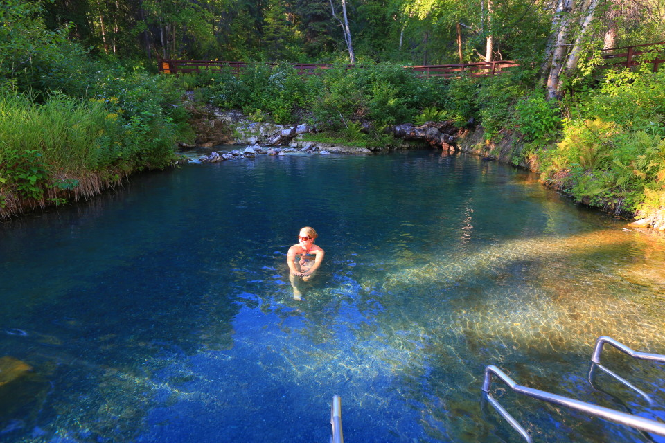 Liard hot springs- I am sure the miners who found this thought it was heaven on earth. Great campground and place to stop along the Alcan.