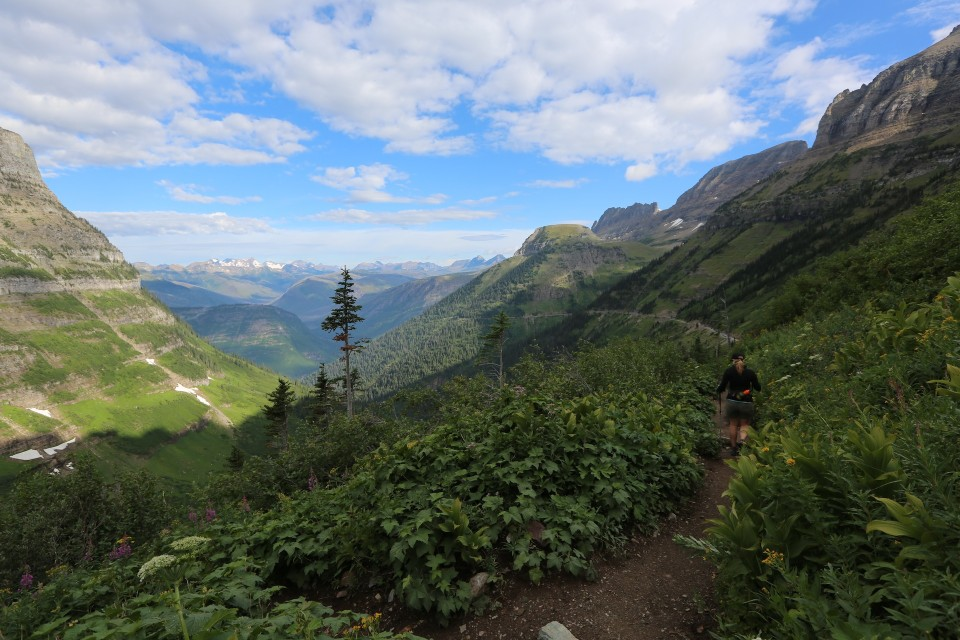 This was my first real hike of the trip in Montana, 14 miles in Glacier National Park. I could barely walk the next day but I did it! I was so out of shape then.