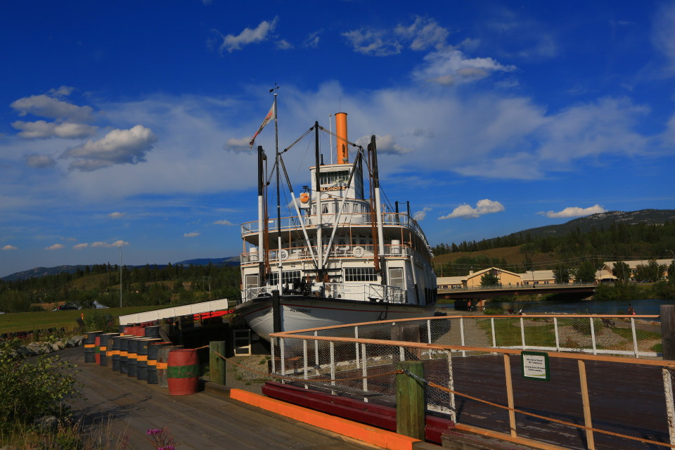 SS Klondike, this was the main mode of transportation between the 460 mile route between Whitehorse and Dawson City.
