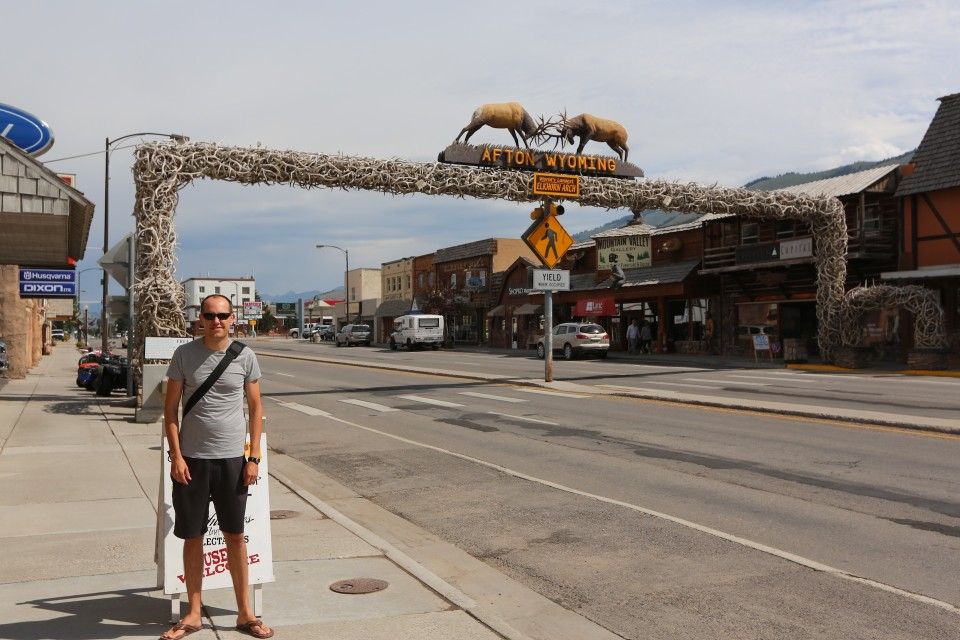 We were told this is the largest antler arch in the world, hard to imagine how many other antler arches there are....