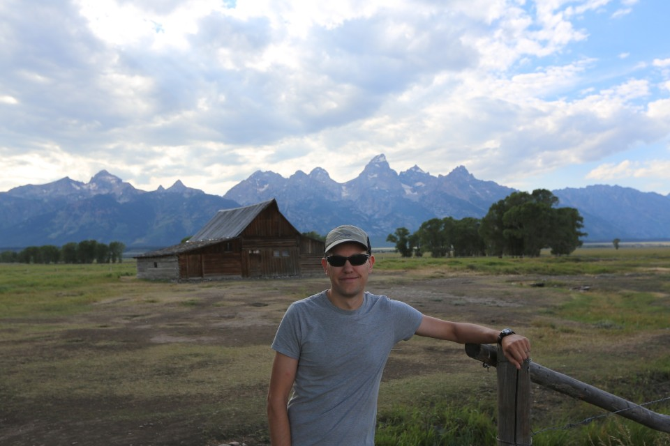 Gran Tetons, open plains, dramatic sky. I will definitely be back one day!