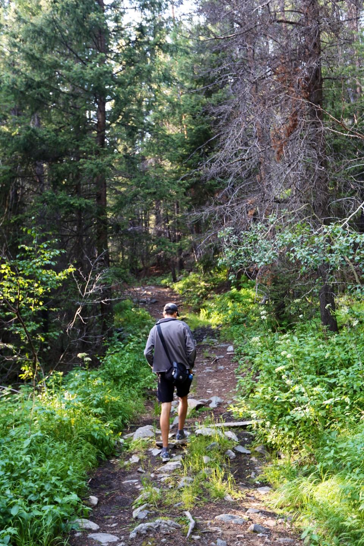 Sam hiking in Lost Creek