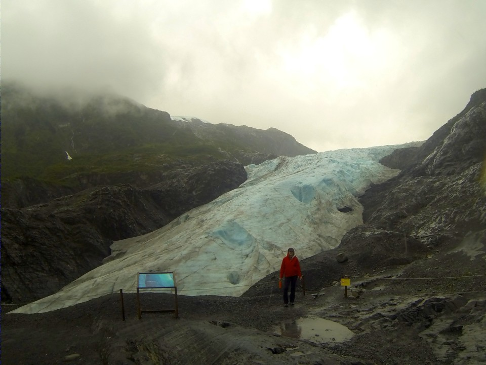 It was raining when we visited Exit Glacier so the pictures sucked, but it was fun to hike in the rain
