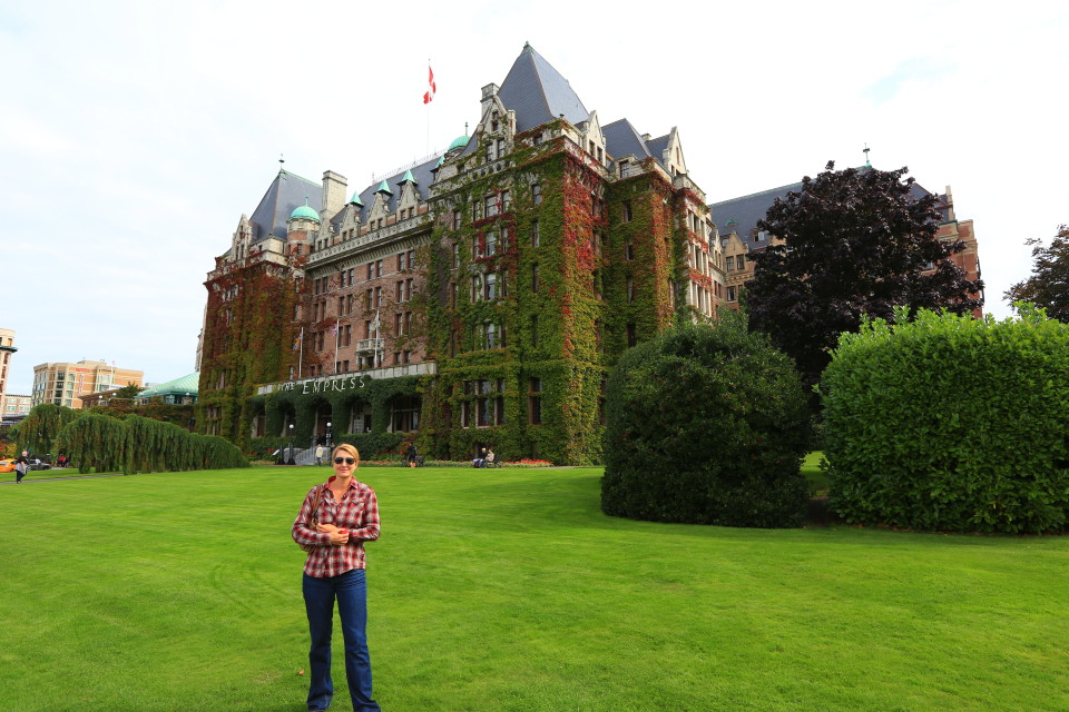 The Empress Hotel, opened in 1908, beautiful old hotel.