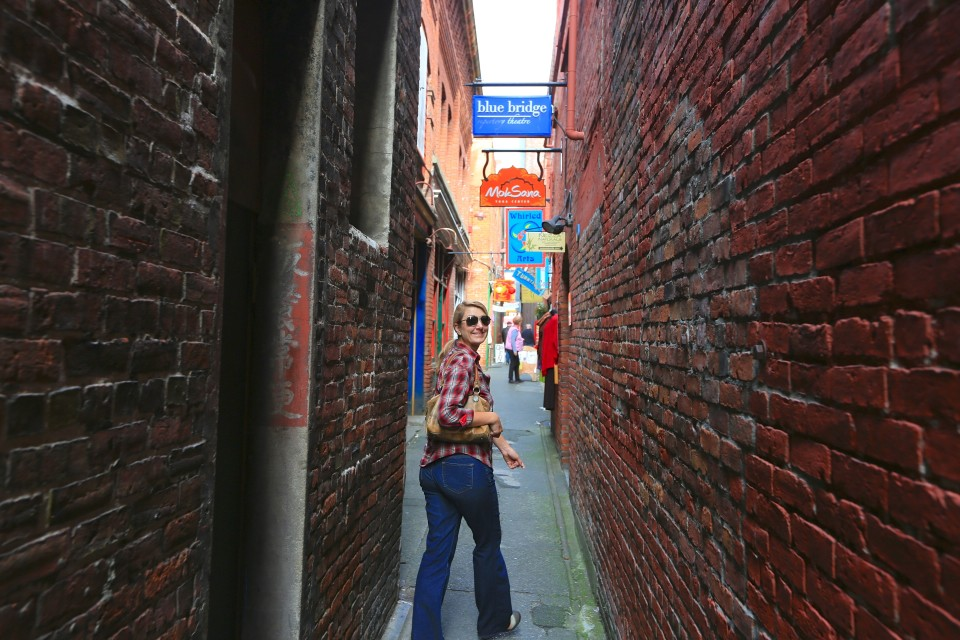 Victoria has the second oldest China Town in North America, this is me walking down the narrow Fan Tan alley.