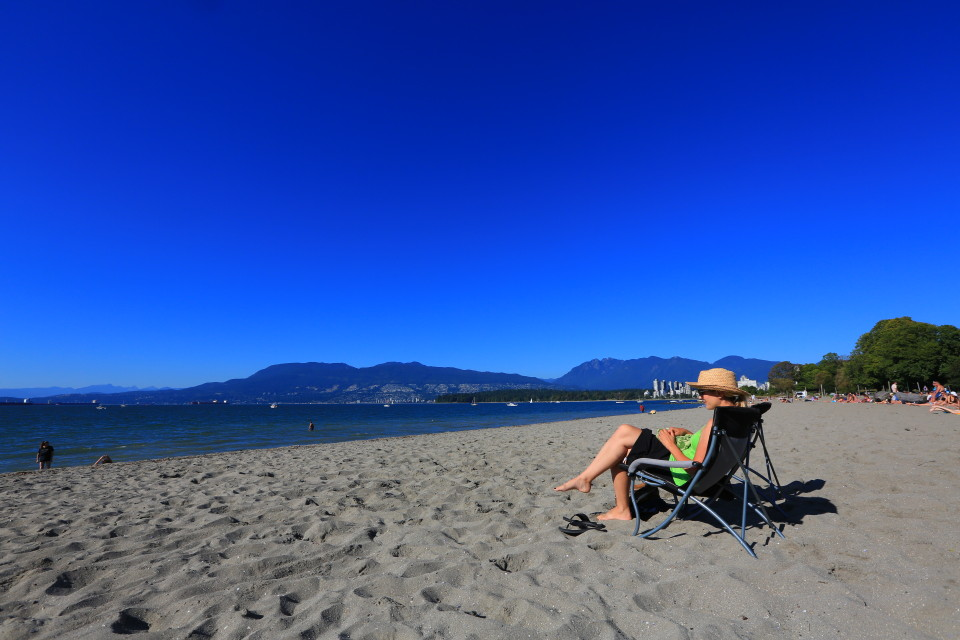 We had unusually warm weather in Vancouver, the beaches were full of sun bathers on Kits Beach