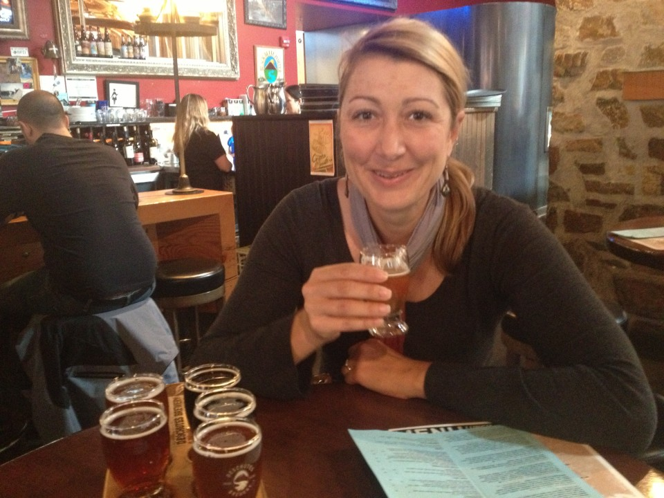 Beer tasting at 11:30 am (don't judge) at Deschutes  Brewery in downtown Portland.