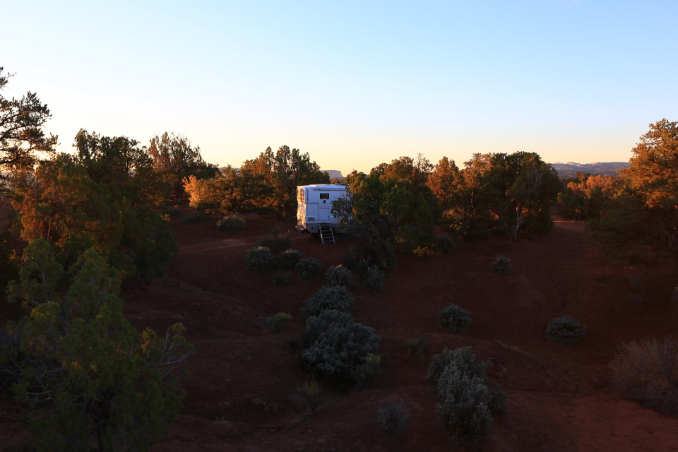 Our camp spot on the BLM land, it was just us and the coyotes. We did not see another car the entire day.