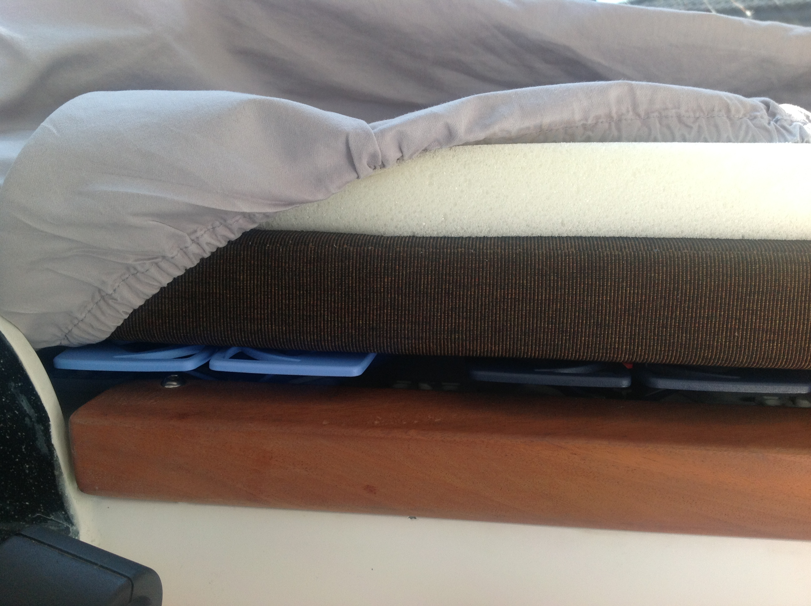 Costco Foam Mattress Pad layers of our mattress. The Froli is at the bottom, the XPCamper pad ...