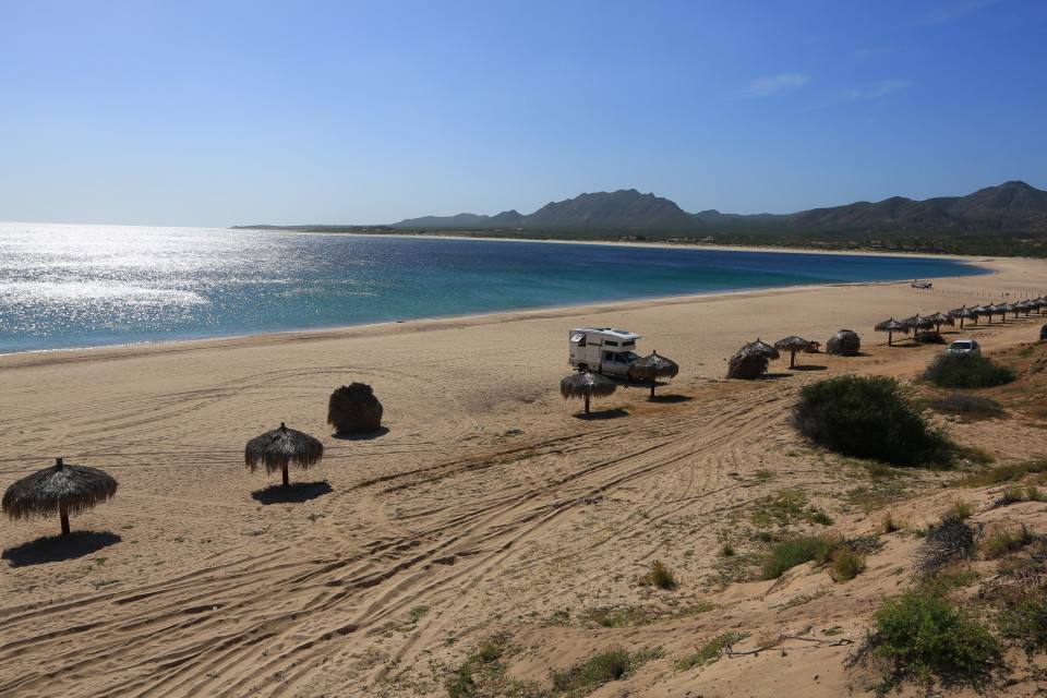 The beautiful fishing beach of Los Frailes.