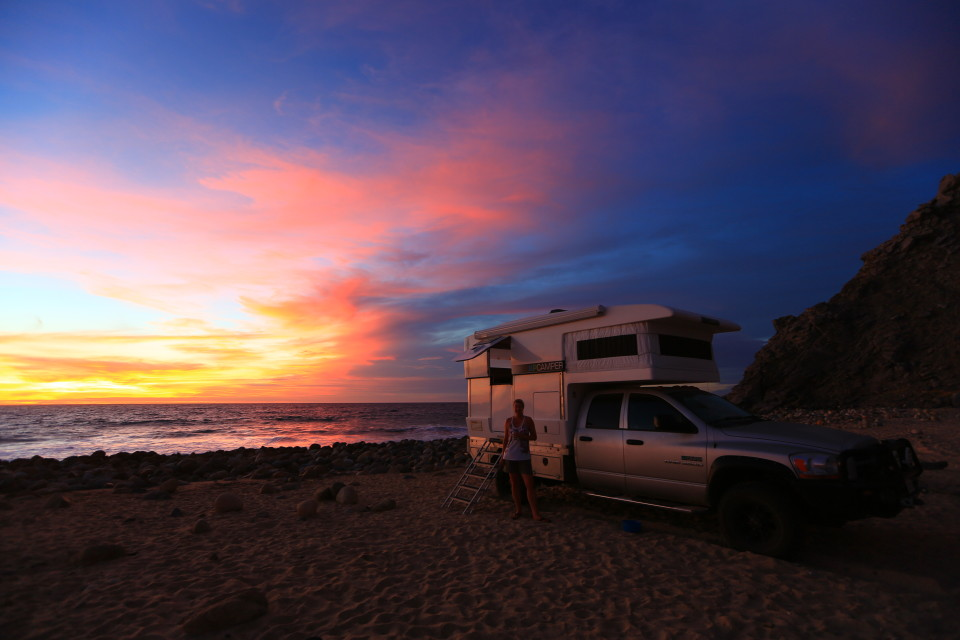 Our camp spot for the night. The waves crashed so loudly we all had trouble sleeping. We were VERY close to the water.