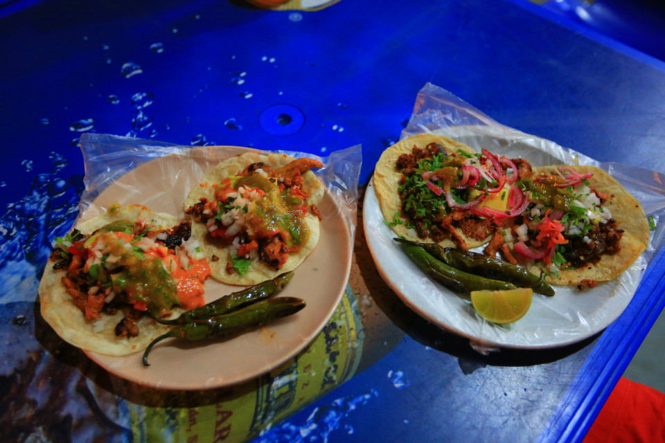 These tacos cost $2.50.