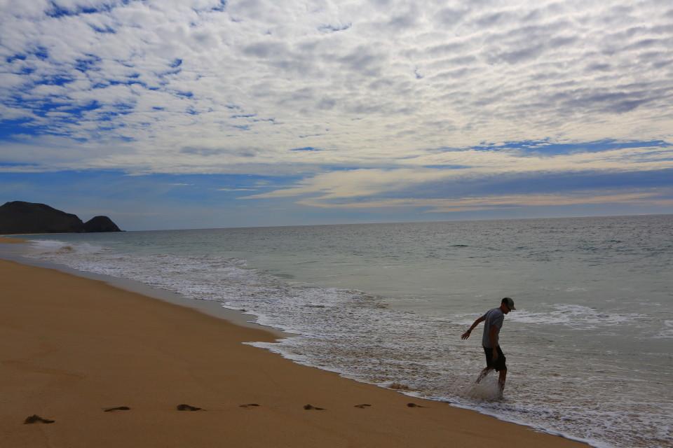 Sam on the beach near Todos Santos.