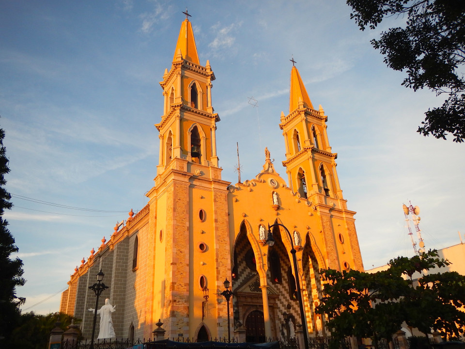 The cathedral in Old town Mazatlan.