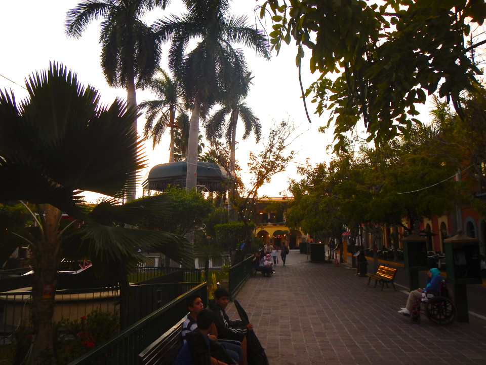 Plazuela Machado, a tree lined square just oozing with charm and a colonial feel, surrounded by charming outdoor cafes.