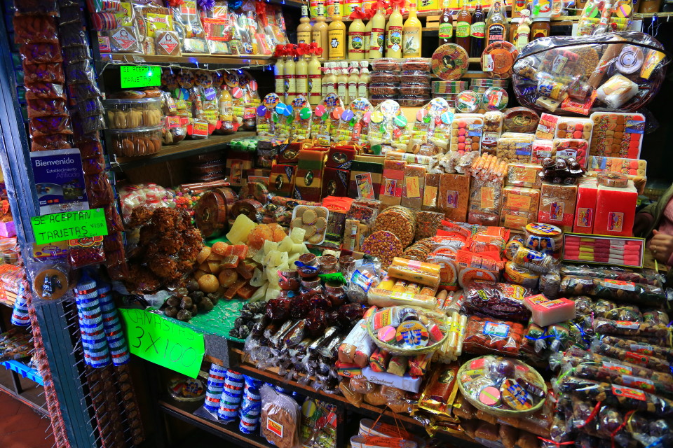 We visited a market that was filled with nothing but candy -- a highlight for Erica.