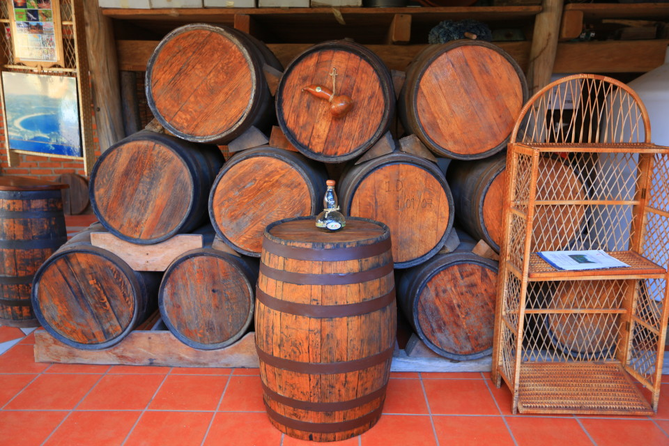 They age it in oak barrels like wine. The oldest being the anjeo which tastes like good brandy.