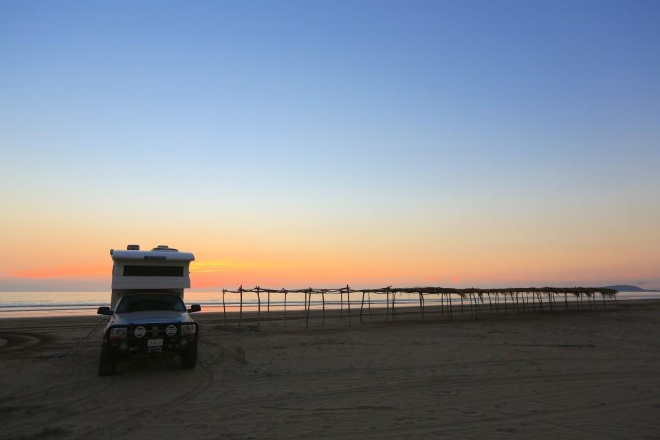 Beautiful sunset, horrible sand flies!