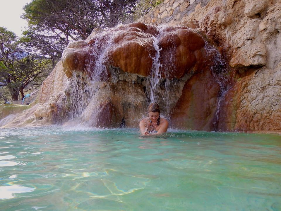 Waterfall massage.