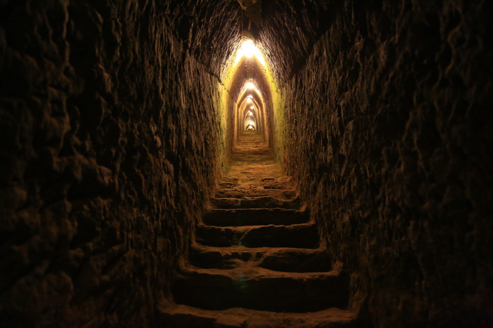 There are 5 miles of excavated tunnels! That seems crazy to me. You only get to walk around part of them.