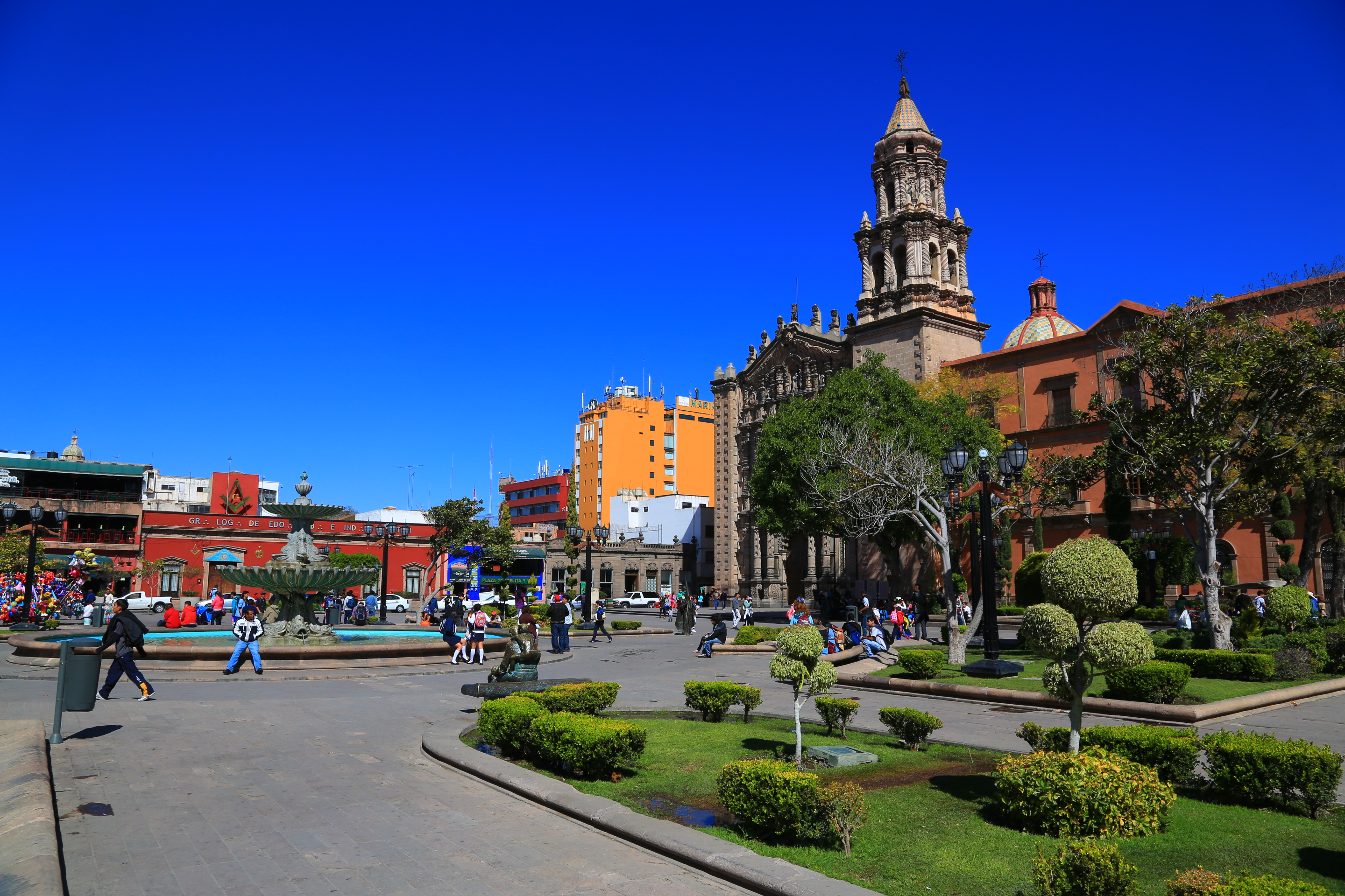 San Luis Potosi Mexico  city pictures gallery : All the towns squares were full of people. Great place to get an ice ...
