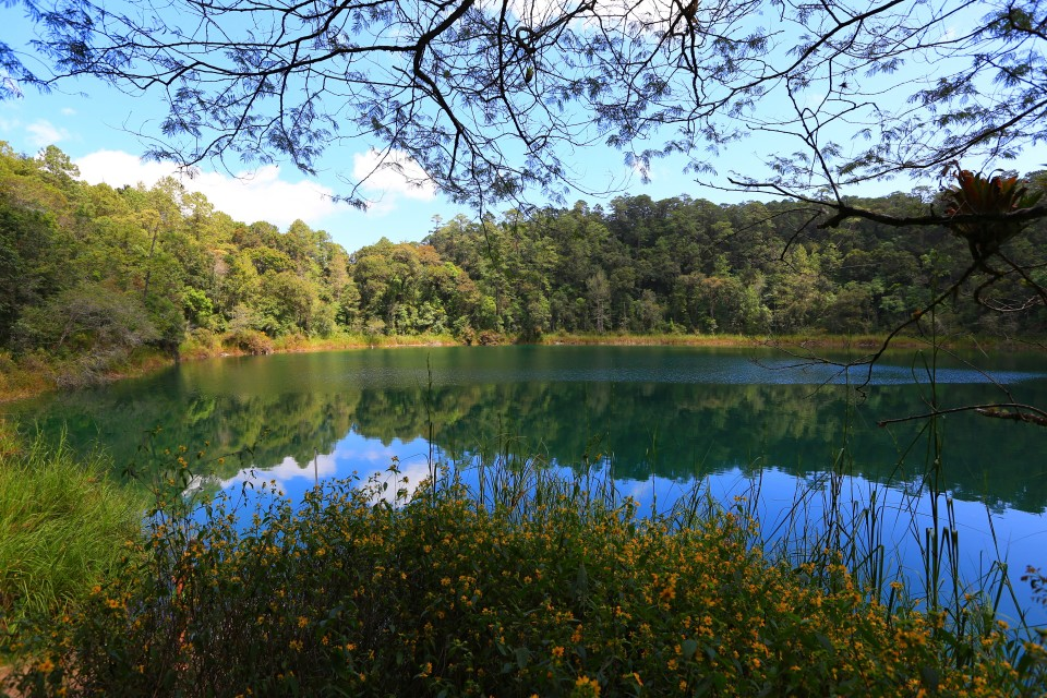 We visited about 10 lakes total. This was Agua Tinta, a deep blue.