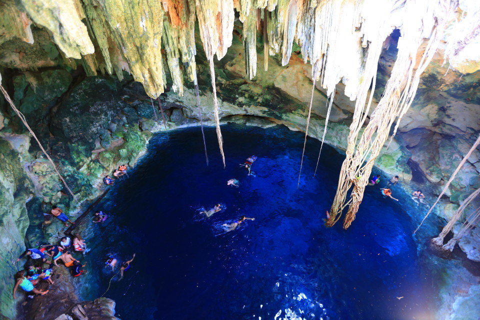 The final cenote was the biggest and had to largest opening to the outside so there was a lot of light.