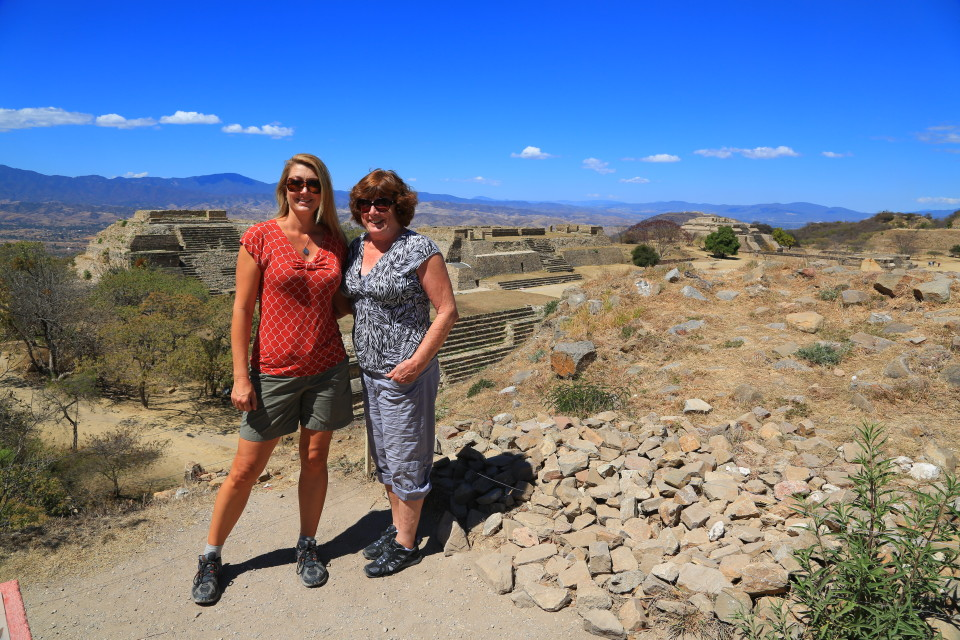 It was really fun traveling with my Mom. Even if I did give her mild heat stroke.