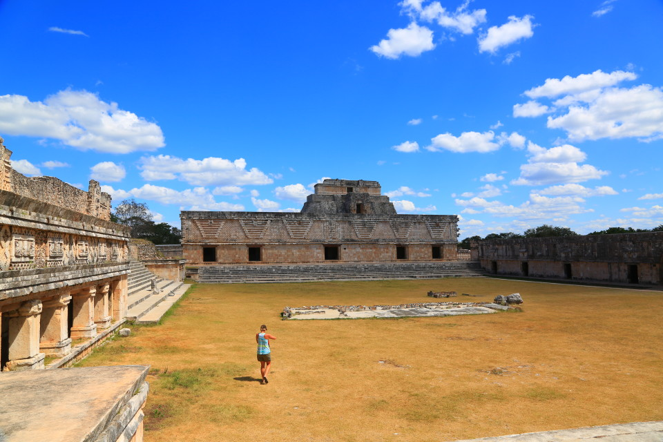 This main plaza highlights the Puuc style architecture that was more ornate than the other Mayan styles.