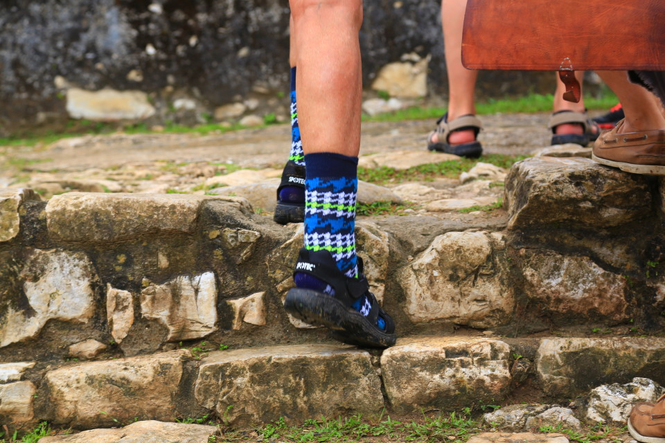 There was a group of German tourists, many had wool socks on with their water shoes, it was so cute we had to take a picture. It was over 90 degrees and humid, I am not sure how wool socks would ever sound like a fun option in the tropics. =)