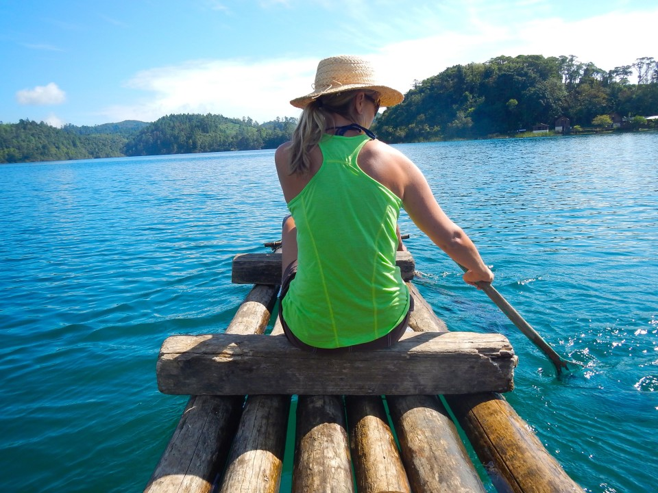 We rented a bolsa raft and rowed to Guatemala and back again. The lake spanned international waters.
