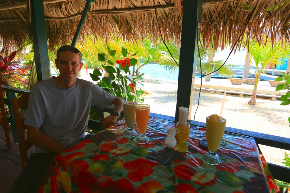 We had the best smoothies I have had on this trip here. Mine was coconut, lime, fresh ginger and pineapple. I am going to have to learn how to make this.
