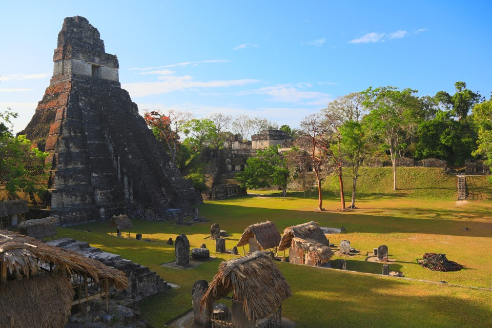 The main plaza of Tikal, it was spectacular!
