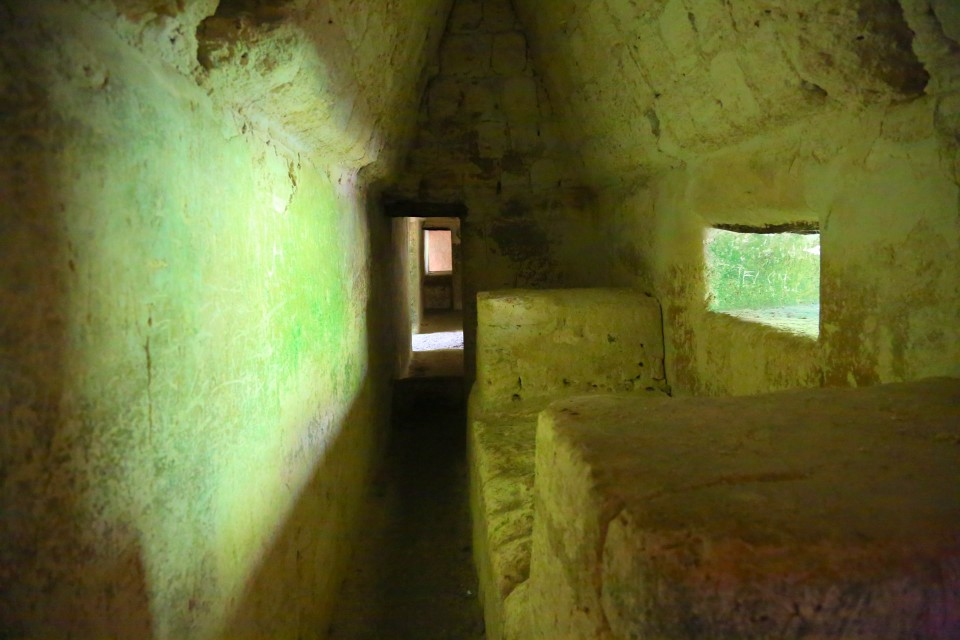 Inside one of the pyramids. We saw the do not enter sign after we explored. Opps...