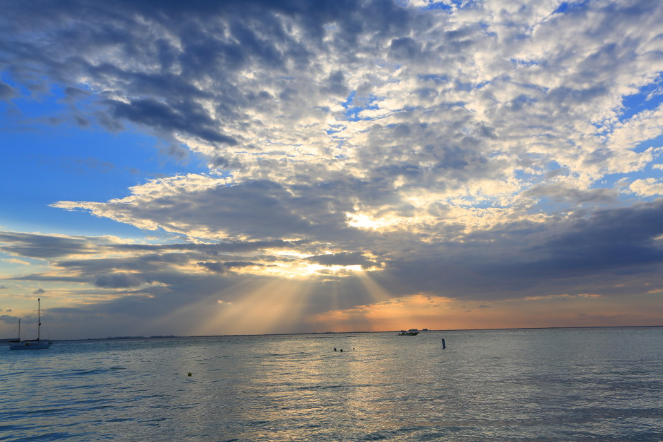Sunset from Isla Mujeres.
