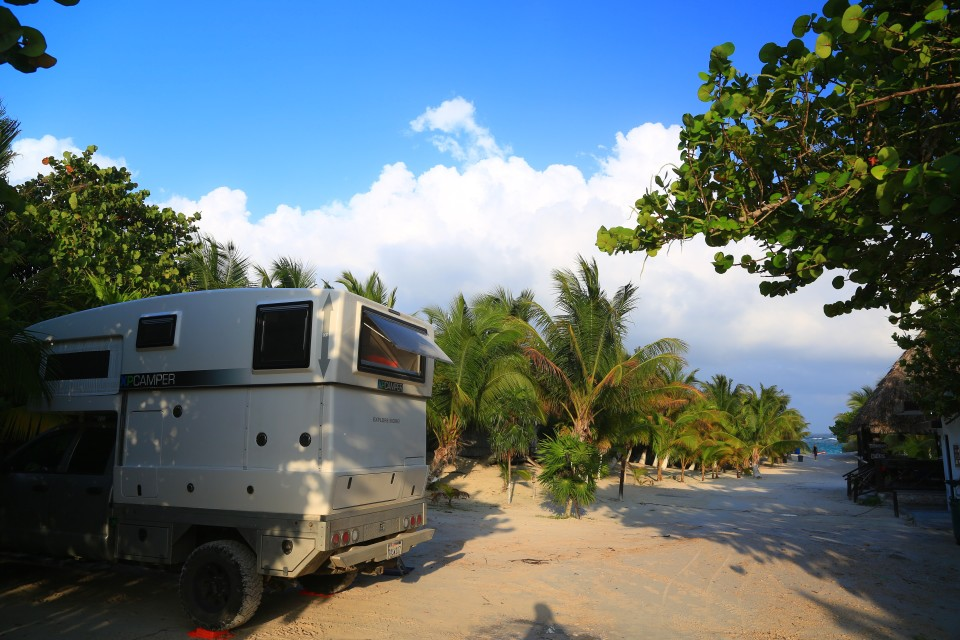 Our camping spot in Tulum, it was not fancy, but it was cheap and close to the beach.