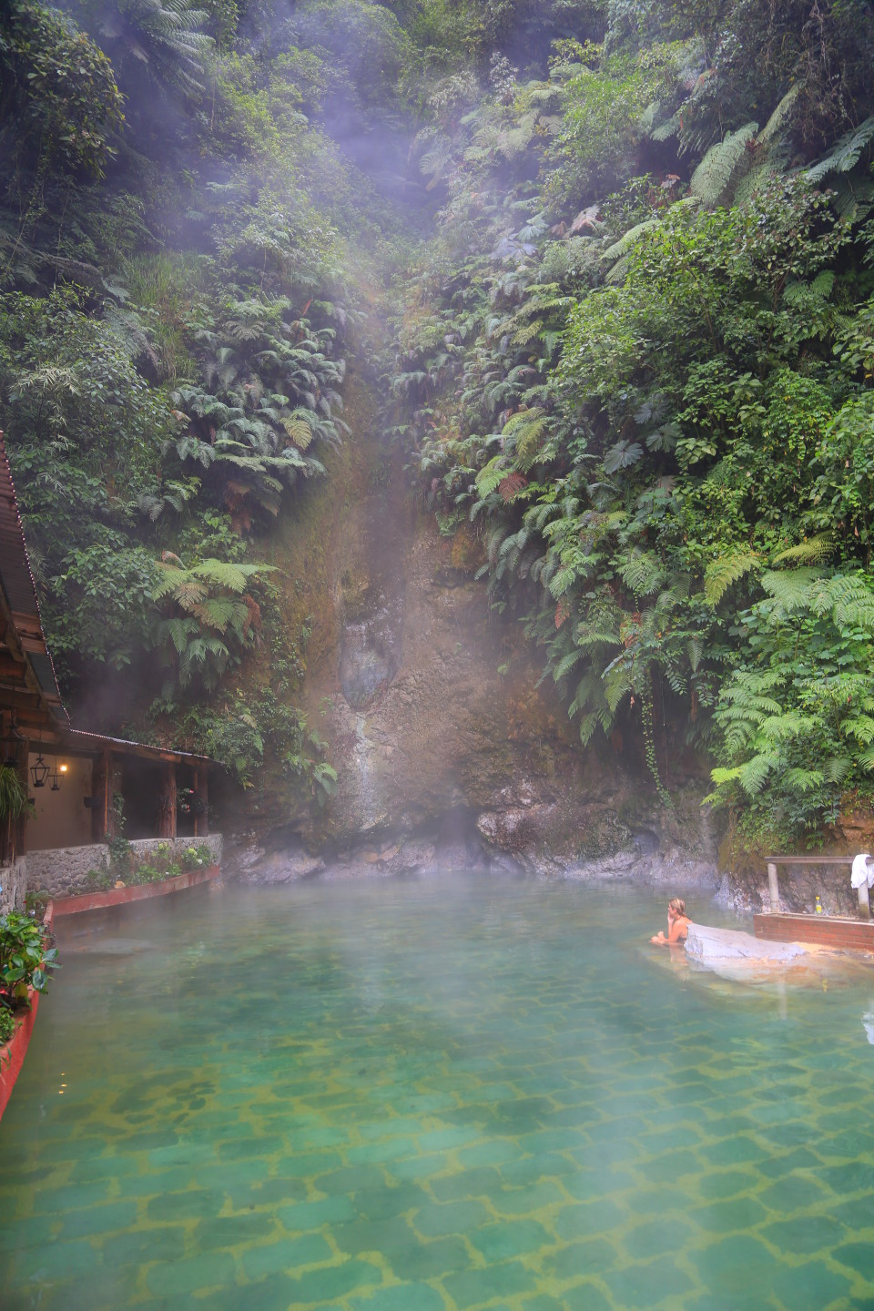 The closer you get to the waterfall, the hotter it gets.