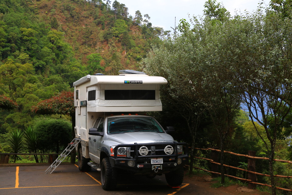 They let you camp in the parking lot at the hot springs, you just have to pay for two days entry.