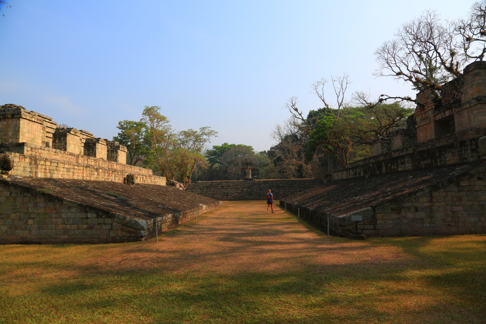 Copan has the largest ball court in Central America.