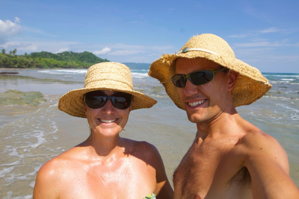 I might enter this picture in the ugly hat contest. We are getting new Panama hats in Ecuador.