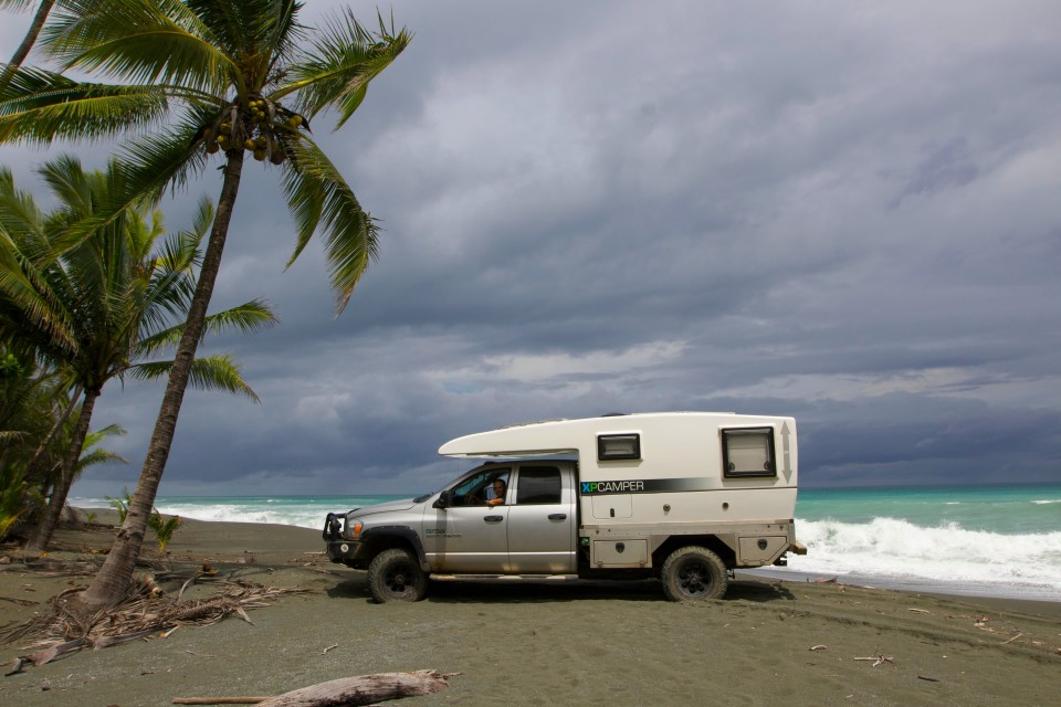 Not sure where you should camp? Just drive onto the beach and pop up the top.
