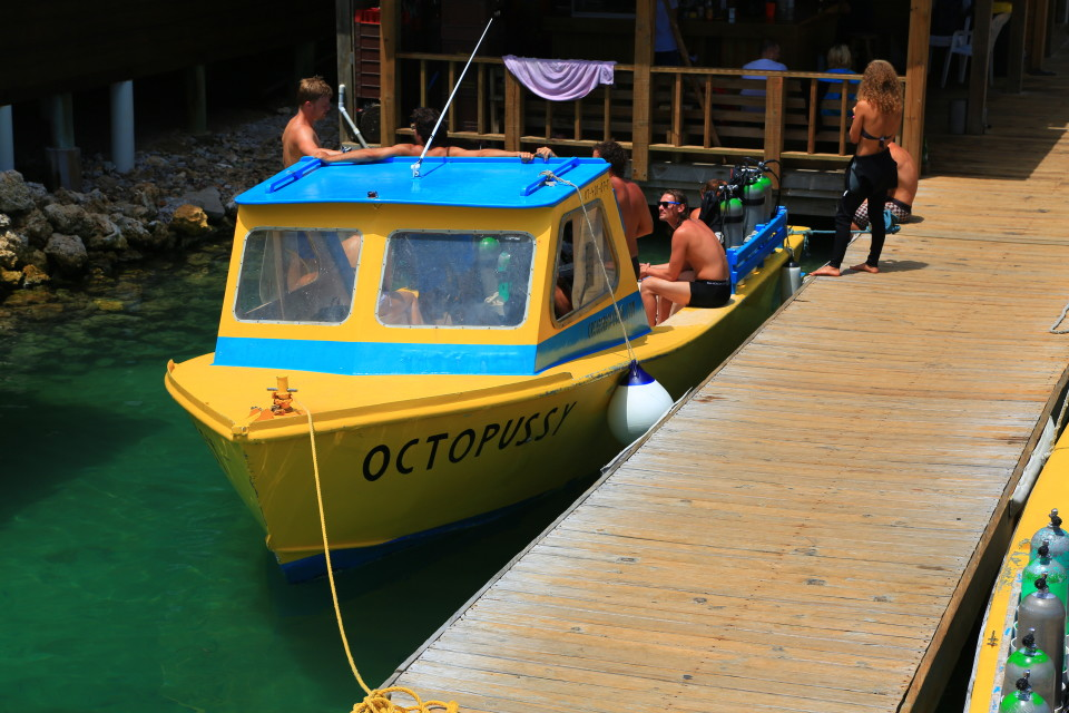 Yes, the boat for the newly certified is named Octopussy. Glad us veterans had a more dignified boat =).