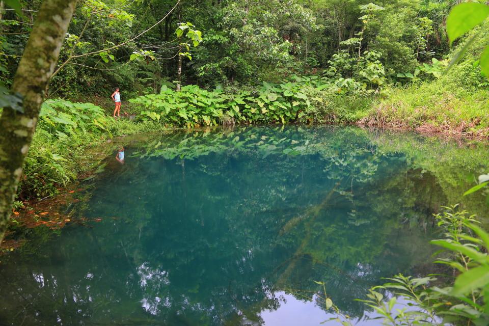 This pool was used in Lenca religious ceremonies.