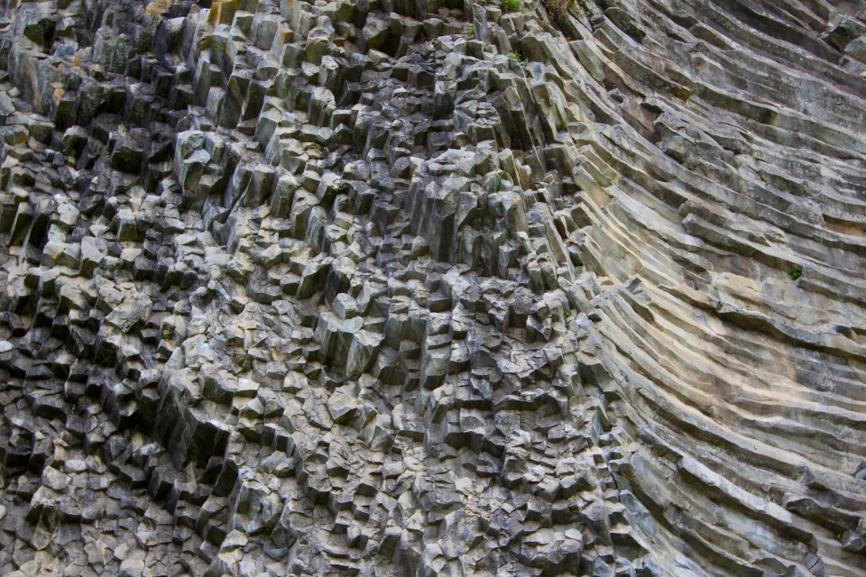 We found out later that this is a basalt formation, similar to what we had seen in Mexico.