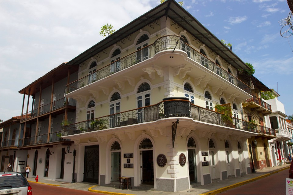 One of the restored buildings in old town.